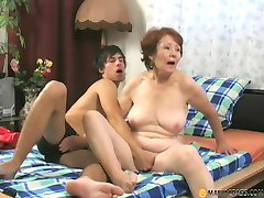 Mature long haired woman with empty tits