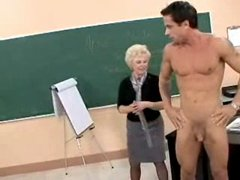 Mature teacher seduced a